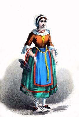 geiltal, peasant, girl, costume, traditional, East Tyrol, Carinthia, Austria, dress, mountaineer, History