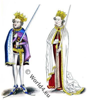 english kings, John, henry, 12th century, costumes, fashion, middle ages, medieval,