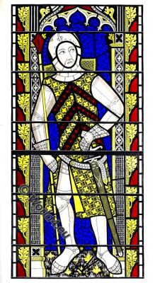 Gilbert de Clare, Earl of Gloucester, Medieval knight, Middle Ages, Armor, Henry Shaw, Tewkesbury Abbey Church.