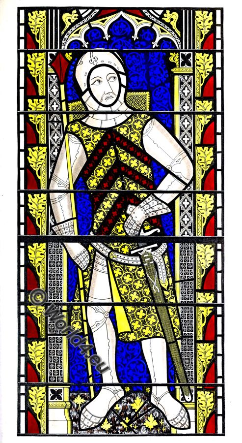 Gilbert de Clare, Earl of Gloucester, Medieval knight, Middle Ages, Armor, Henry Shaw