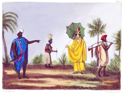 Gambia, Africa, Traditional, historical, costumes, Thomas Edward Bowdich