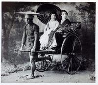 jinrikisha, ride, flower show, historical, historic, Japan, costume, Kazuma Ogawa, Photographer,