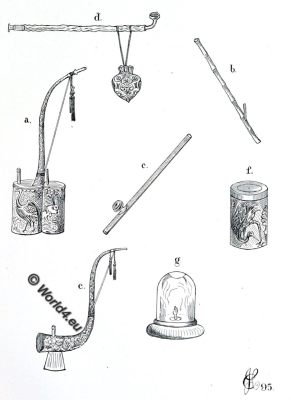 opium, pipes, pipe, antique, china, Charles J. H. Halcombe