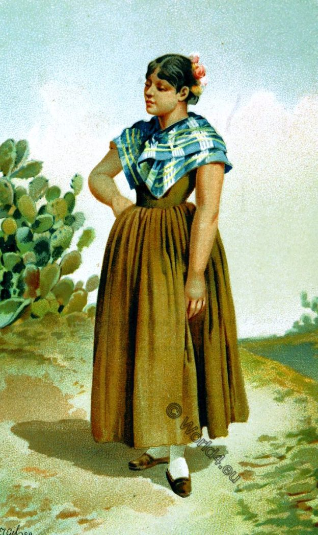 traje popular, Residente, Moguer, Andalucía, España