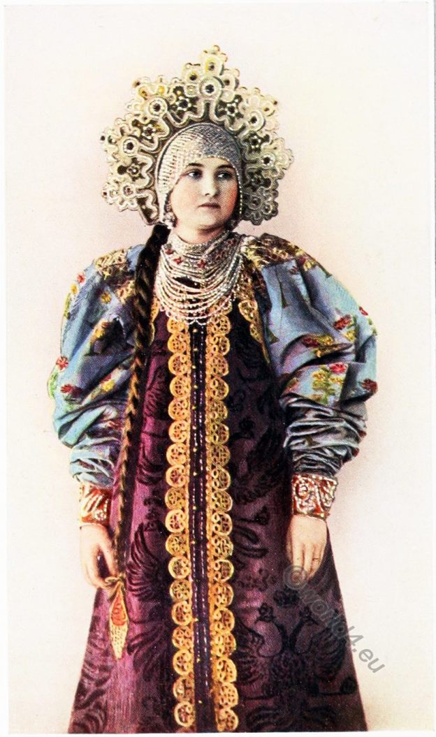 Arkhangelsk, Oblast, Russia, Peasant, costume, fashion history