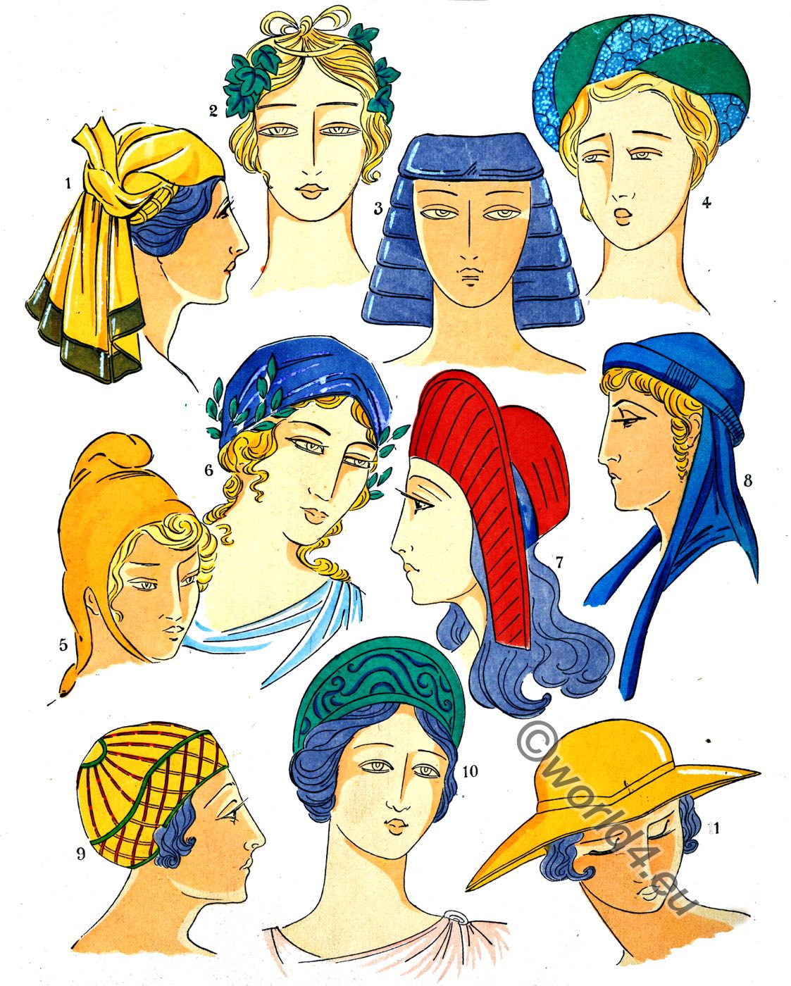 Coiffures, Ancient, Greece, fashion history, Paul Louis de Giafferri.