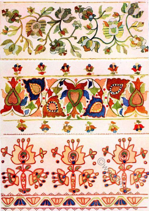 Silk Embroidery, design, Ukraine,Peasant art