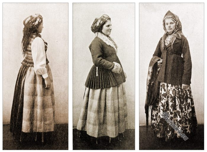 Peasant, Costumes, Lithuania, Baltic, folkdresses
