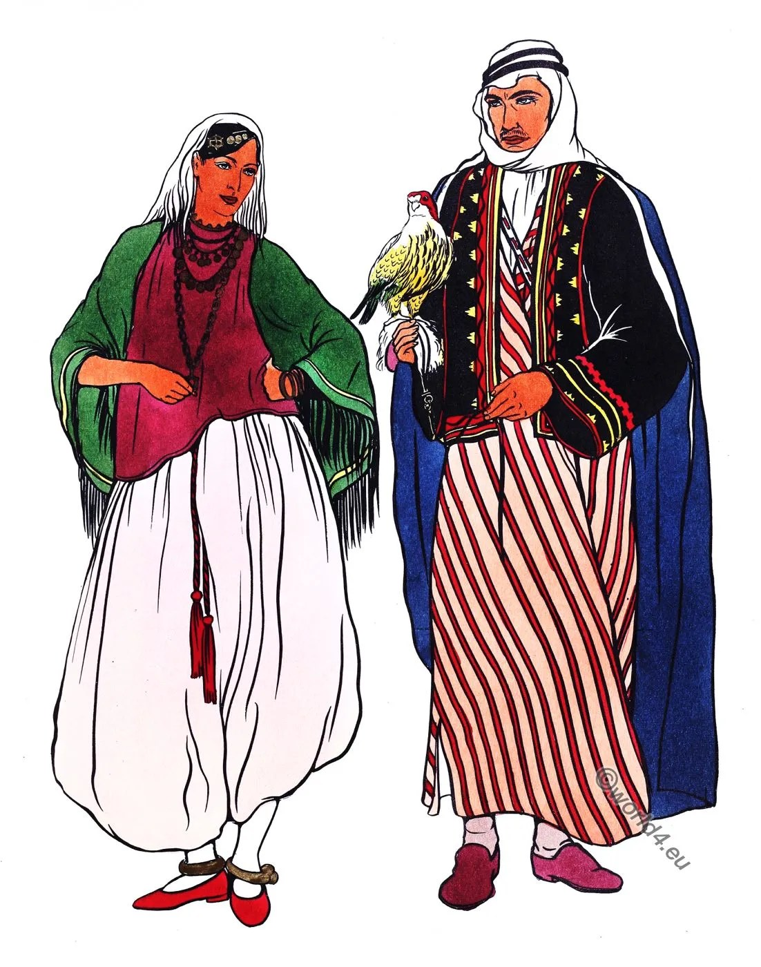 Arabian, costumes, dress, aba, kubiyah, sakal