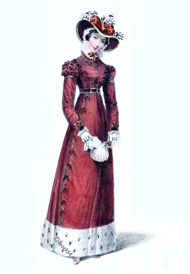 Rudolph Ackermann, Regency, London, fashion, Promenade dress, costume,