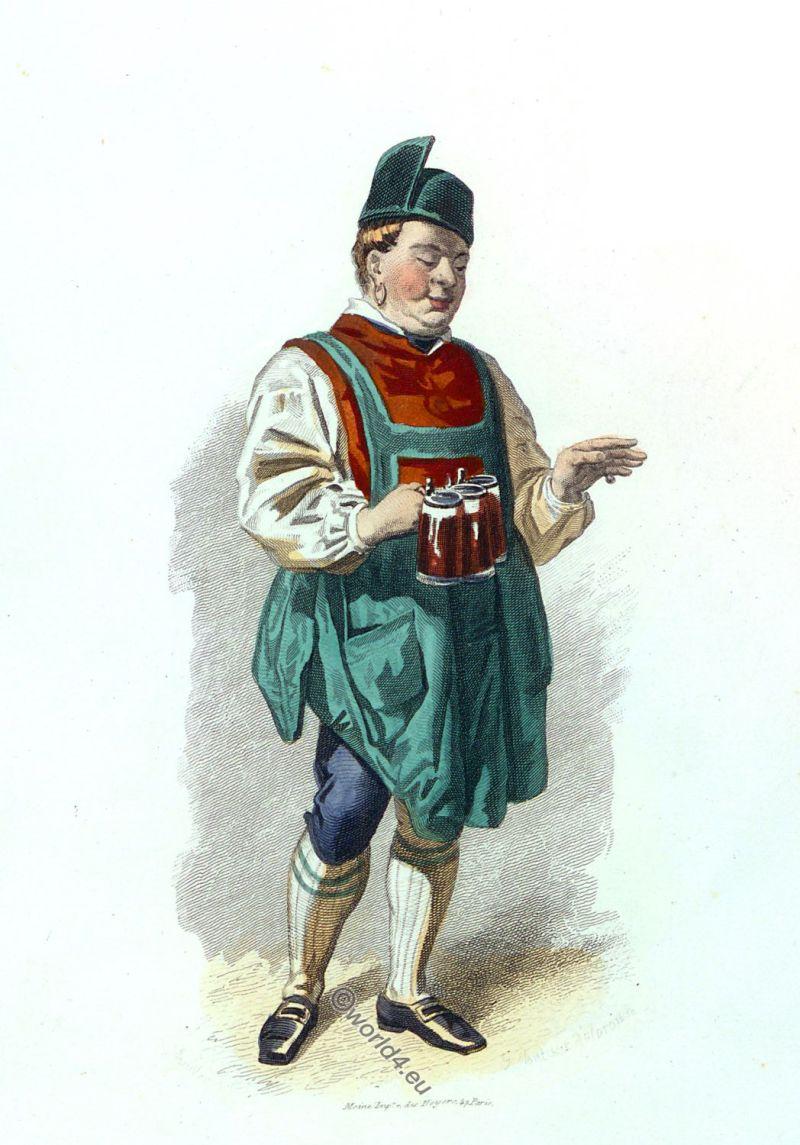 Innkeeper, traditional, costume, Miesbach, Bavaria.