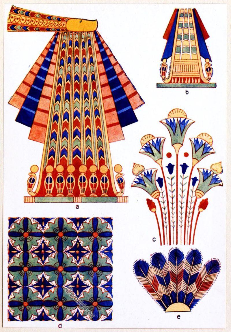 Ancient, Egypt, Decoration, ornaments, girdle, fan