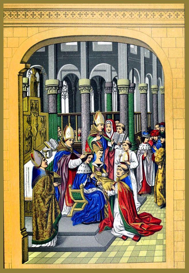 Charles V, King, coronation, France, 14th century,