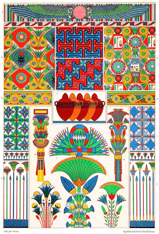 Egyptian, Art, Scarabaeus, Egypt, Paintings, Ancient,