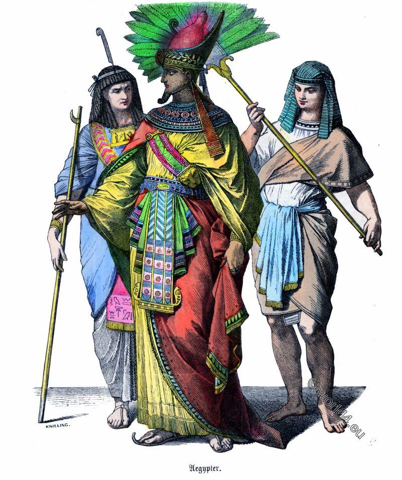 Ancient, Egyptian king, pharaoh, costume, history