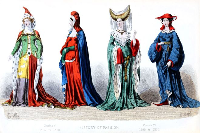 French, fashion, history, 14th century