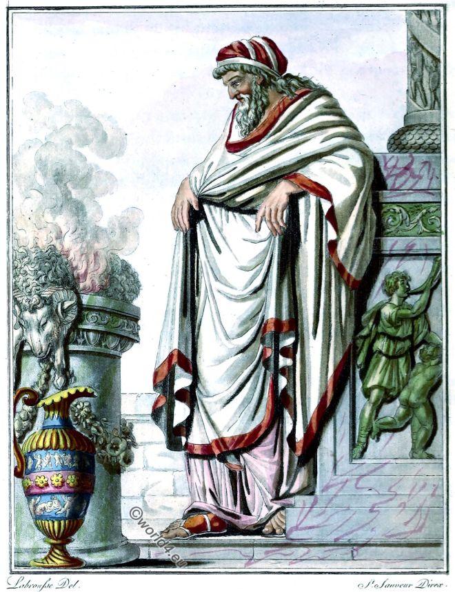 Pontifex Maximus, ancient Rome, principal priest, costume