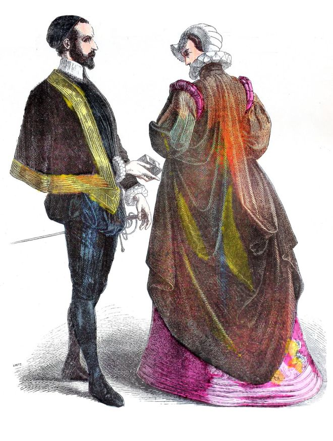 French, court, costumes,, spanish, fashion, renaissance, baroque