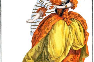 coeffure, Caravanne, Costume, Opera, Rococo, France, fashion,