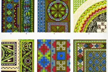 Owen Jones, Byzantine, ornament, Sofia, Constantinople, Mosaics, Sta. Sofia,
