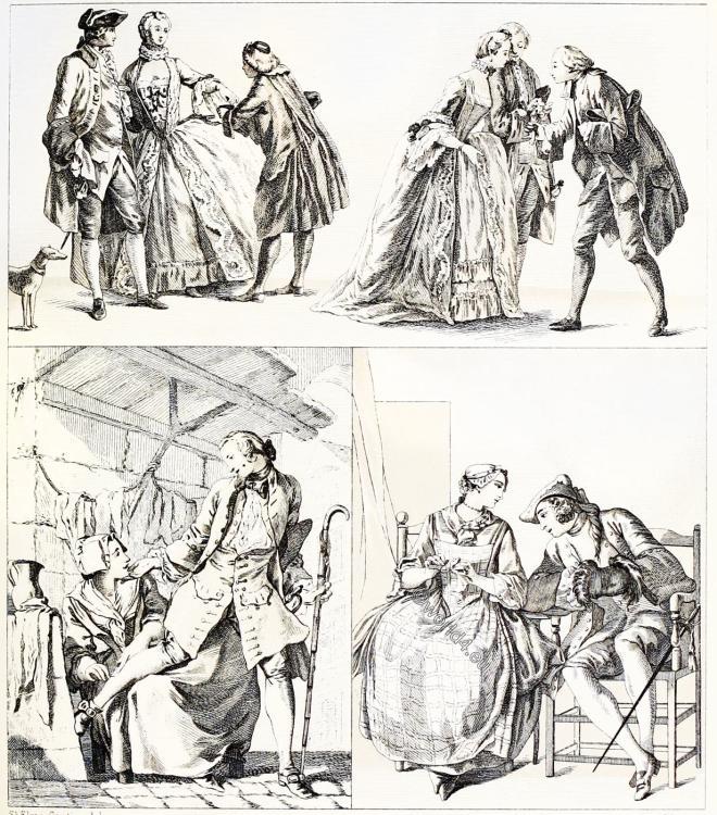 elegant, rococo, fashion, costumes,