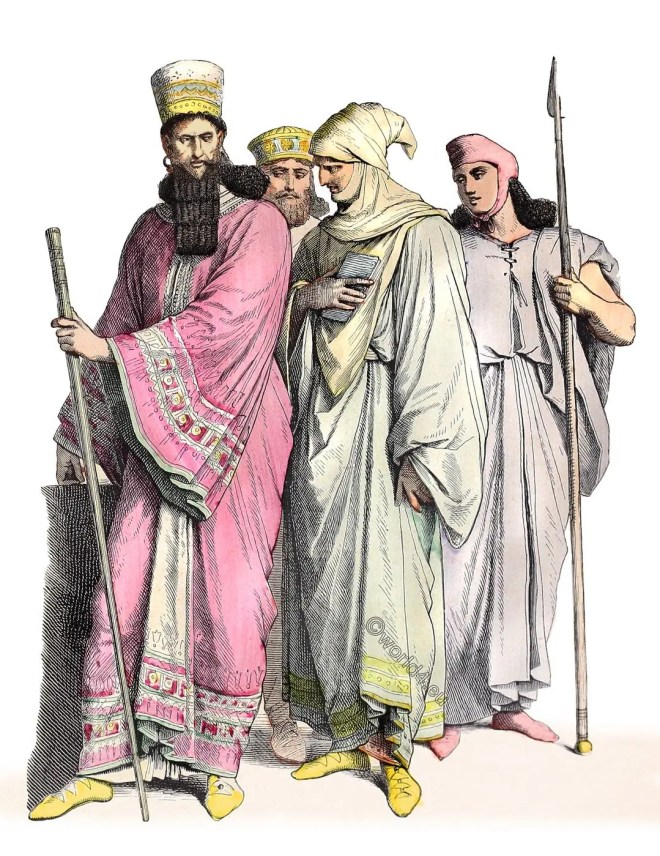 Mede, costumes, clothing, Noble Median, Persia, bodyguard,