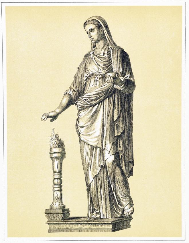 Vestal, virgin, cult, Vesta,ancient, rome, sculpture, costume, dress