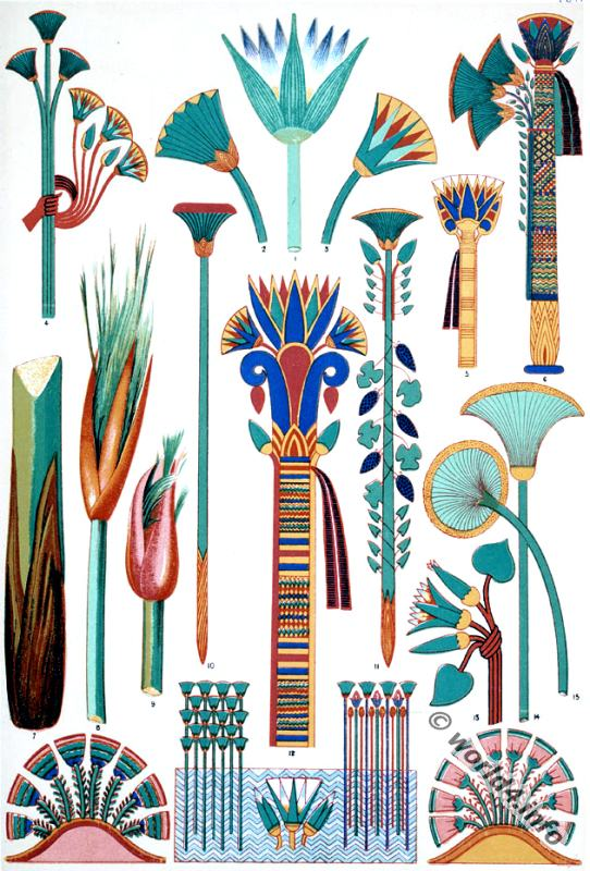 Image result for egyptian papyrus plant art