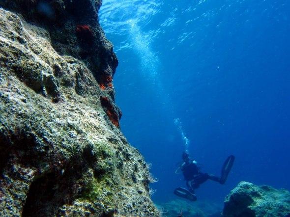 Scuba diver Kas Turkey