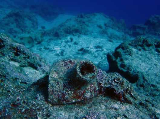 amphorae underwater Kas Turkey