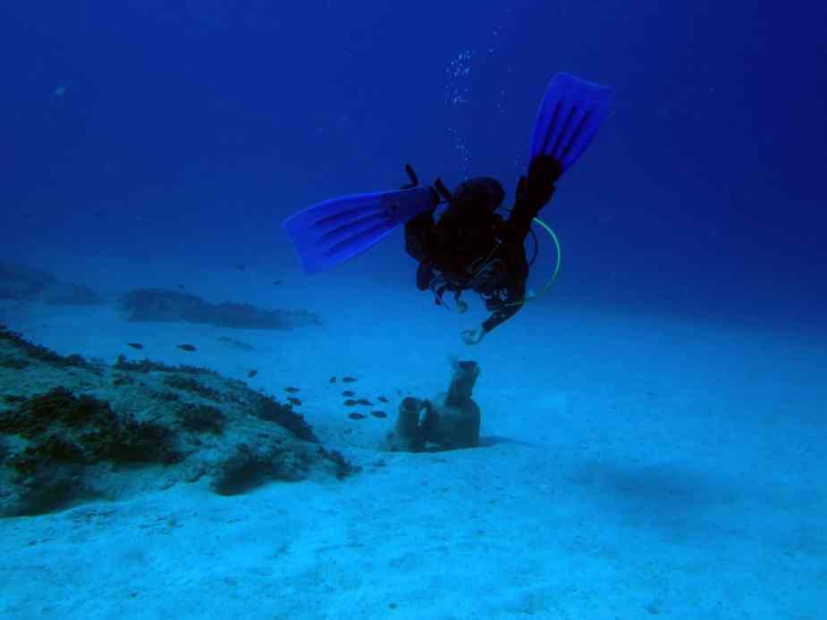 Kas diving - amphorea and scuba diver