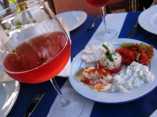 mezze diner Kas Turkey