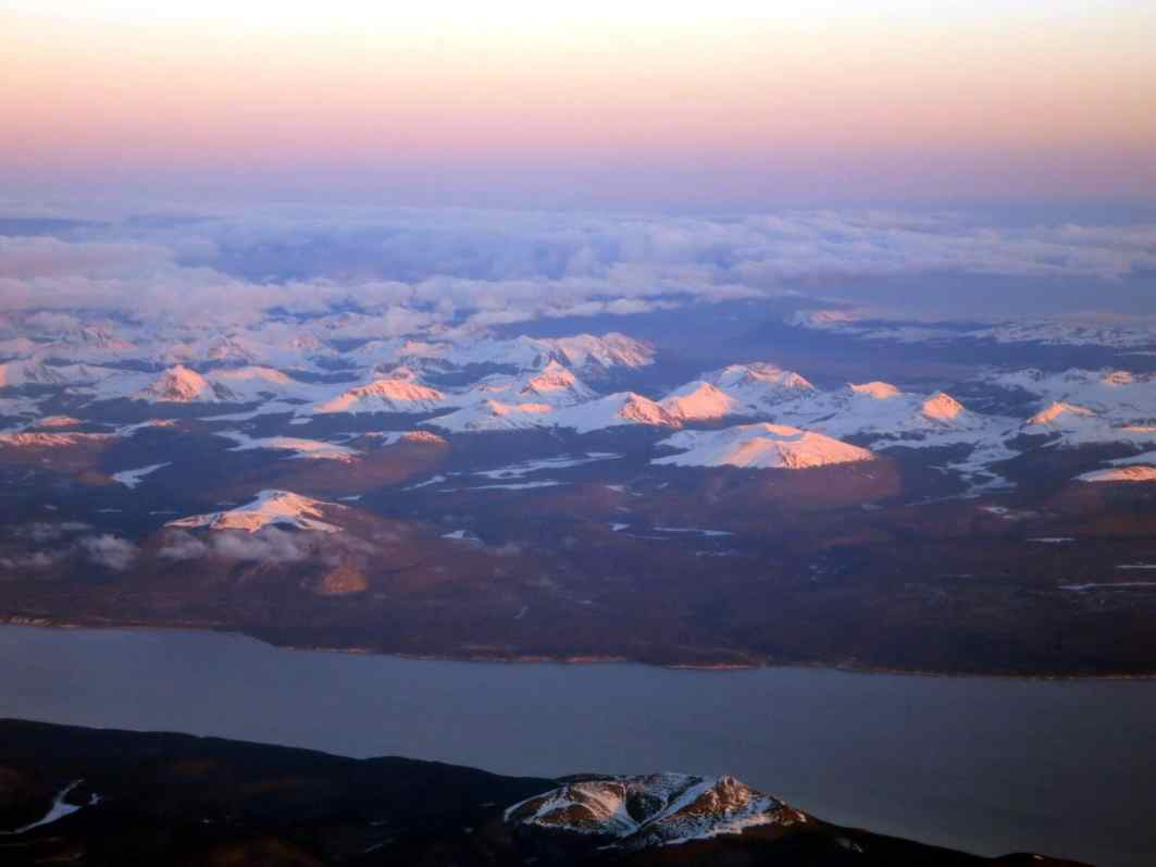 view from the sky tierra del fuego