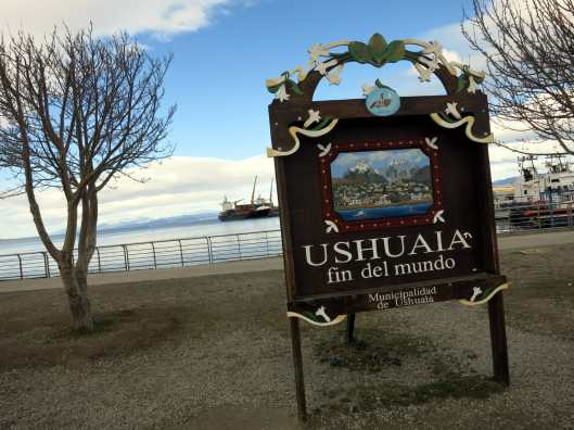 Ushuaia end of the world / fin del mundo