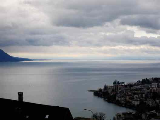 View on Leman Lake from Lausanne