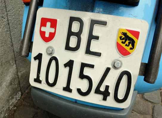 Bern canton plate