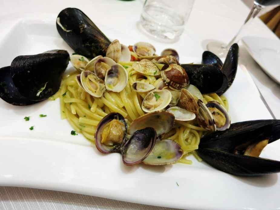 Seafood Linguine at Tripergola Hotel Pozzuoli Italy