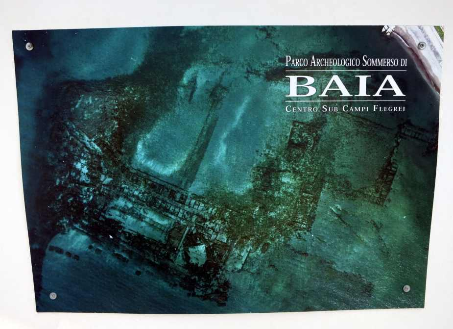 Baia underwater park from the sky - underwater Pompeii