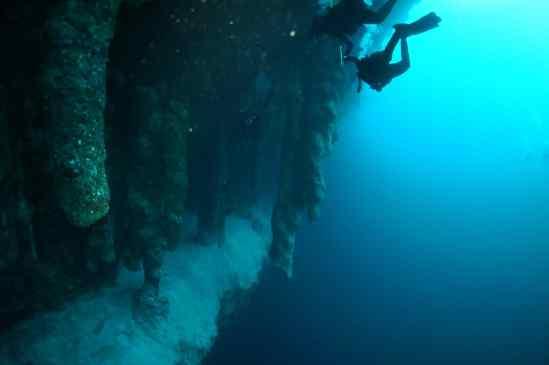 Stalactites Great Blue Hole Belize