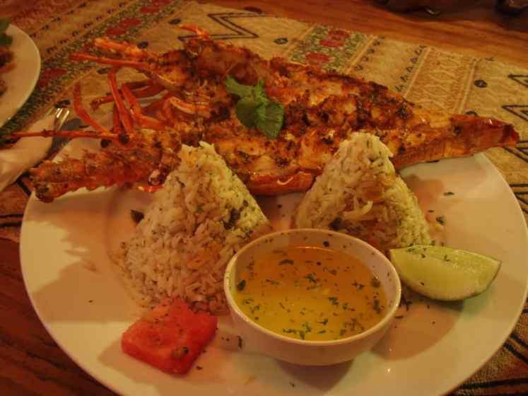Cheap Lobster diner Caye Caulker Belize