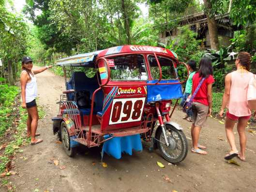 Exploring Valencia surroundings with a tricycle Negros Philippines