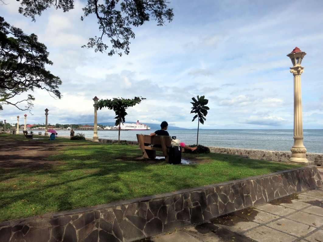 Sea front promenade Dumaguete Negros Philippines