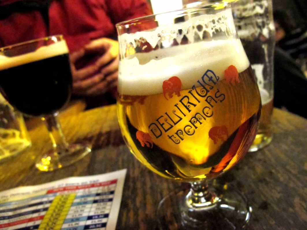 Beer bar Delirium tremens Brussels Belgium