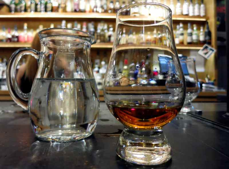A dram of Scotch Whisky in Aberdeen Scotland