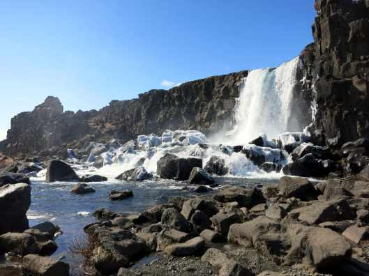 Oxararfoss waterfall Thingvellir Pingvellir Iceland
