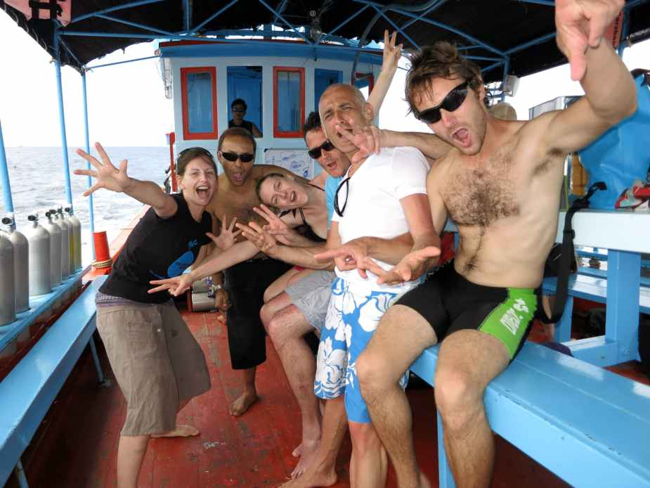 Divemaster training in Thailand - scuba diving holidays for singles