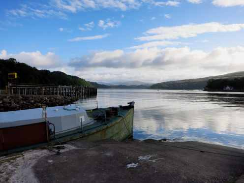 Lochaline harbour Scotland