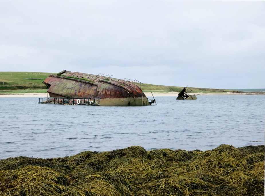 Shipwreck Churchill Barriers Orkney Scotland