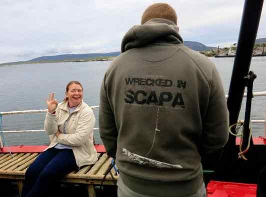 Scuba diving Scapa Flow Stromness Orkney Scotland