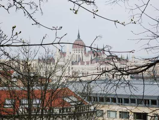 View of Hungarian Parliament from Buda Hill Budapest Hungary